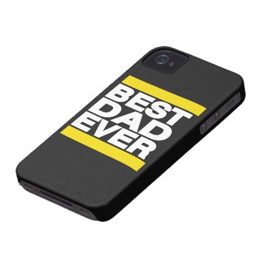 El mejor amarillo del papá nunca iPhone 4 Case-Mate carcasas
