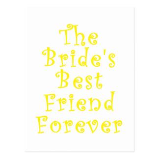 El mejor amigo de las novias para siempre postal