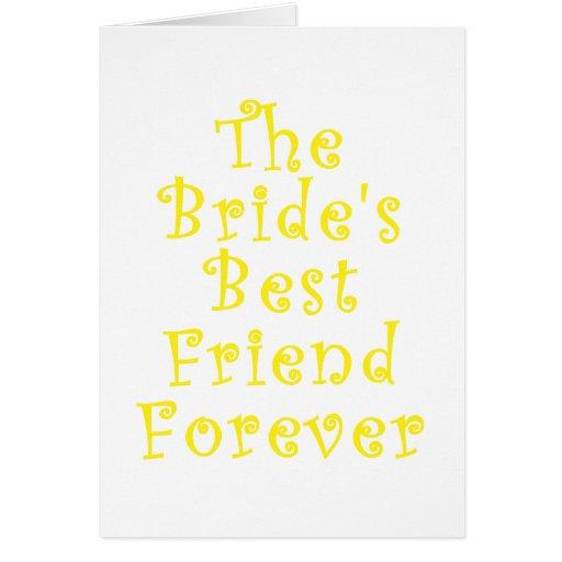 El mejor amigo de las novias para siempre tarjetas
