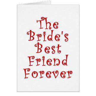 El mejor amigo de las novias para siempre tarjeta de felicitación
