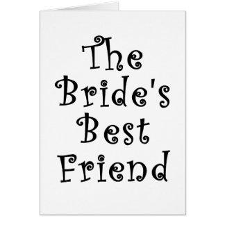 El mejor amigo de las novias tarjeta de felicitación