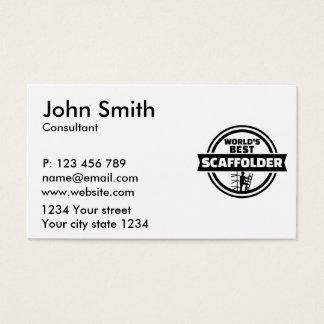 El mejor andamio del mundo tarjeta de negocios