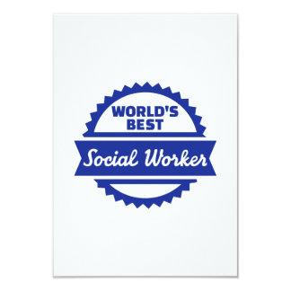 El mejor asistente social del mundo invitación personalizada