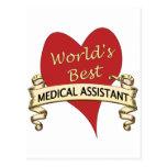 El mejor auxiliar médico del mundo tarjetas postales