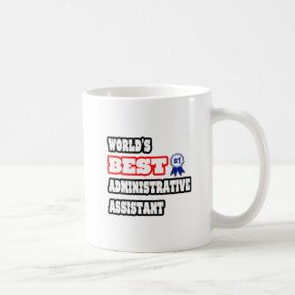 El mejor ayudante administrativo del mundo taza básica blanca
