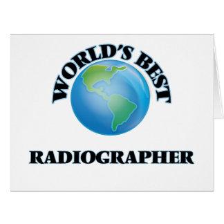 El mejor ayudante radiólogo del mundo tarjeta de felicitación grande