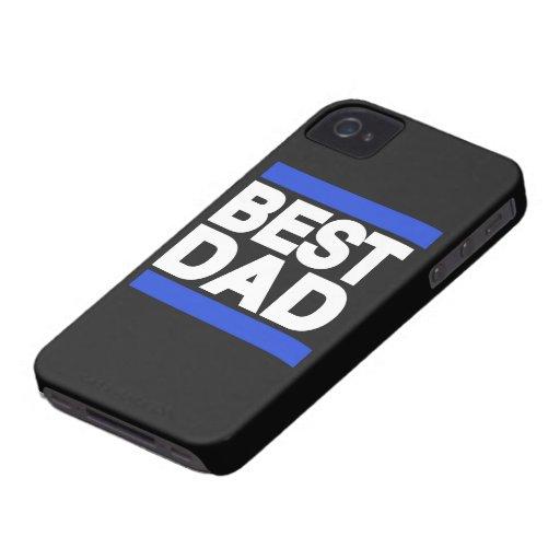 El mejor azul del papá iPhone 4 Case-Mate carcasas