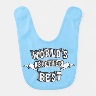 El mejor babero del bebé azul del texto de Brother