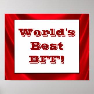 ¡El mejor BFF del mundo! Muestra de la impresión Póster