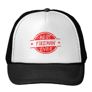 El mejor bombero siempre rojo gorras