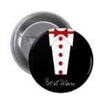 El mejor botón del hombre (rojo) pins