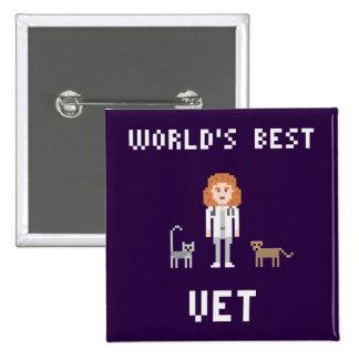 El mejor botón femenino del veterinario del pixel