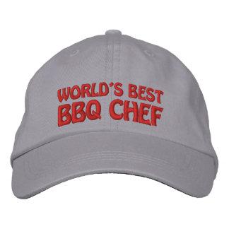 El mejor cocinero del Bbq de los mundos Gorras De Beisbol Bordadas