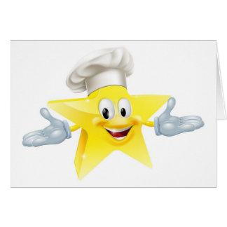 El mejor concepto del cocinero tarjeta