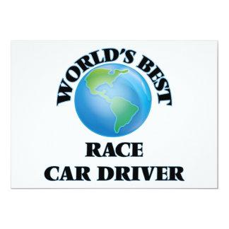El mejor conductor del coche de carreras del mundo invitación 12,7 x 17,8 cm
