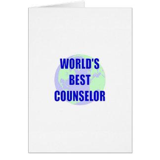 El mejor consejero del mundo tarjeta de felicitación