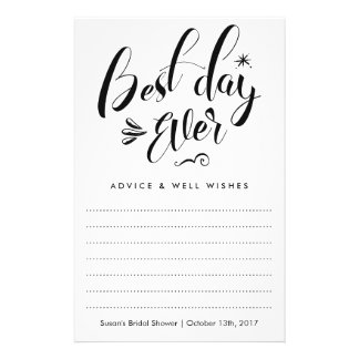 El mejor día nunca, tarjeta nupcial del consejo de folleto 14 x 21,6 cm