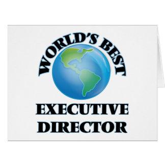 El mejor director ejecutivo del mundo tarjeta de felicitación grande