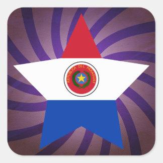El mejor diseño de la bandera de Paraguay Pegatina Cuadrada