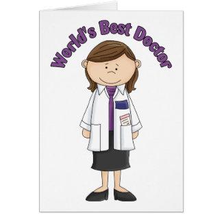El mejor doctor Woman del mundo Tarjeton