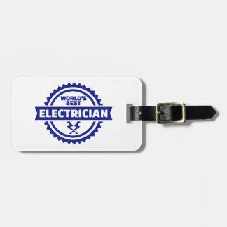 El mejor electricista del mundo etiqueta para maletas