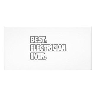 El mejor electricista nunca tarjeta fotográfica