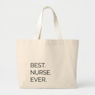 El mejor. Enfermera. Nunca Bolsa De Tela Grande