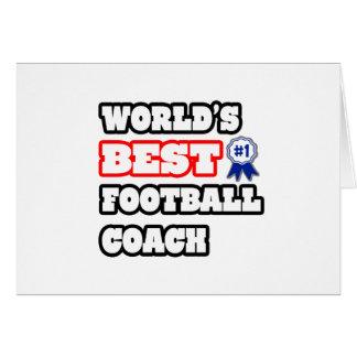 El mejor entrenador de fútbol del mundo tarjeta de felicitación