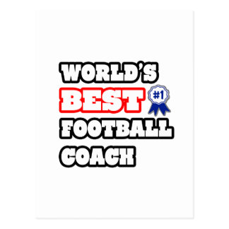 El mejor entrenador de fútbol del mundo tarjetas postales