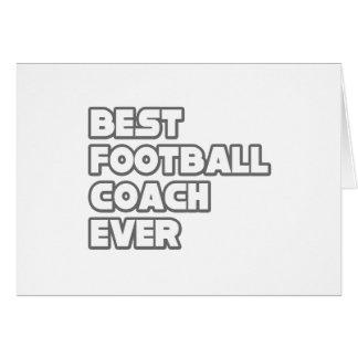 El mejor entrenador de fútbol nunca tarjeta de felicitación