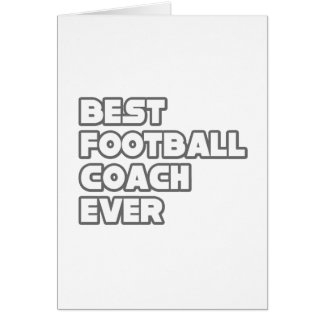 El mejor entrenador de fútbol nunca tarjeton