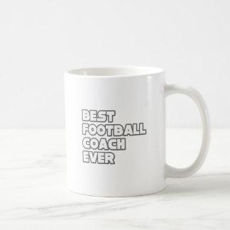 El mejor entrenador de fútbol nunca taza básica blanca