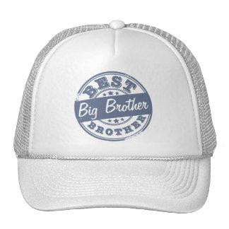 El mejor hermano mayor - efecto del sello de goma  gorras de camionero