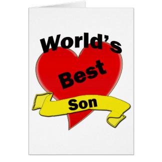 El mejor hijo del mundo tarjeta de felicitación