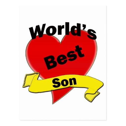 El mejor hijo del mundo tarjeta postal