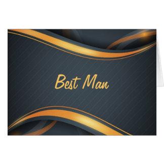 El mejor hombre (b/g) tarjeta de felicitación
