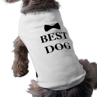 El mejor hombre del mejor perro que casa Bowtie Camiseta Sin Mangas Para Perro