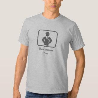 El mejor hombre favorable (logotipo gris) camisetas