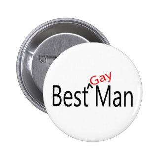El mejor hombre gay chapa redonda de 5 cm