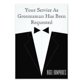 El mejor hombre o padrino de boda invita invitación 8,9 x 12,7 cm