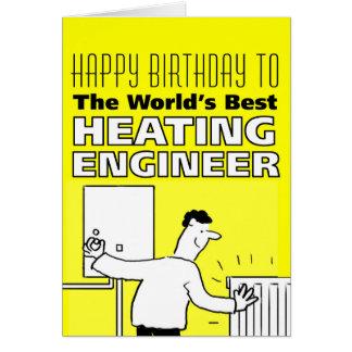 El mejor ingeniero de la calefacción del mundo tarjeta de felicitación