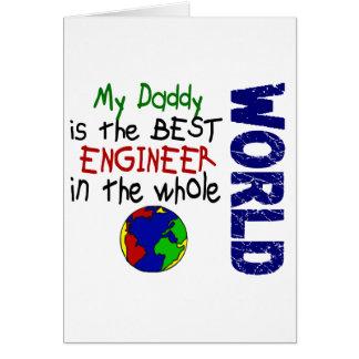 El mejor ingeniero en el mundo 2 (papá) tarjeta de felicitación