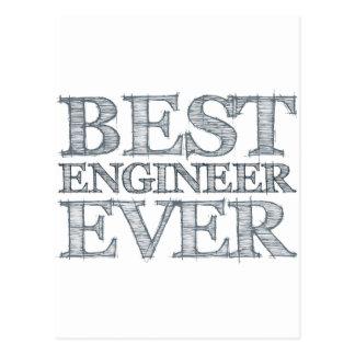 El mejor ingeniero nunca postal