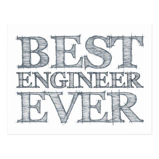 El mejor ingeniero nunca postales