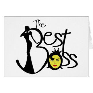 El mejor jefe de la señora tarjeta de felicitación
