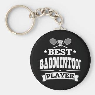 El mejor jugador del bádminton llavero redondo tipo chapa