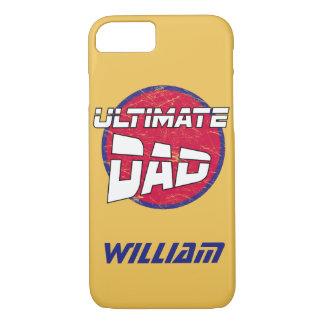 El mejor logotipo del papá con nombre y colores funda iPhone 7