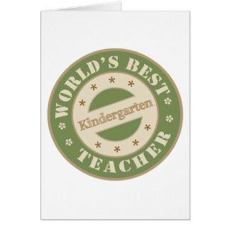 El mejor maestro de jardín de infancia de los tarjeta de felicitación