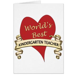 El mejor maestro de jardín de infancia del mundo felicitacion