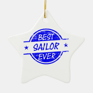 El mejor marinero siempre azul ornamento para reyes magos